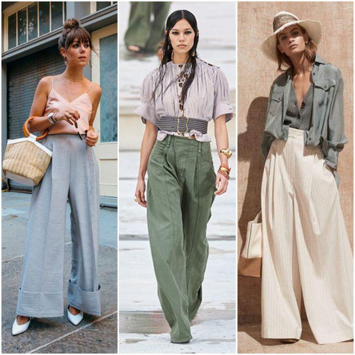 pantalones anchos y sueltos para mujer moda mujer verano 2022 tendencias