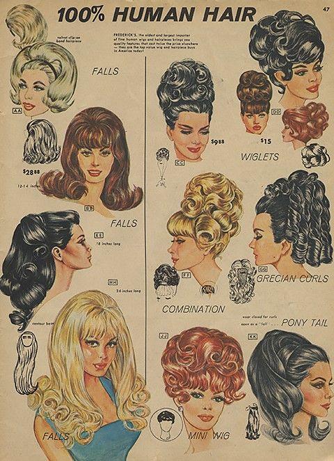 peinados de los 60 moda