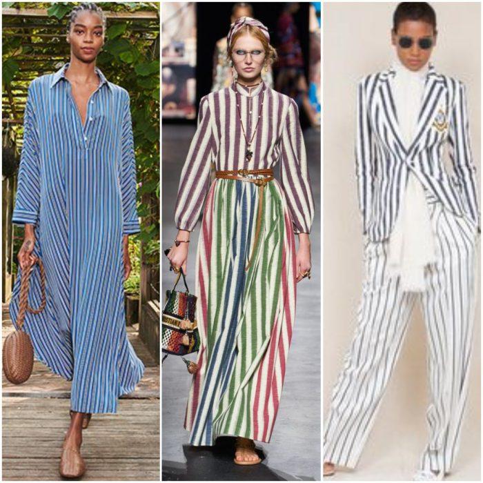 rayas verticales estampas de moda verano 2022