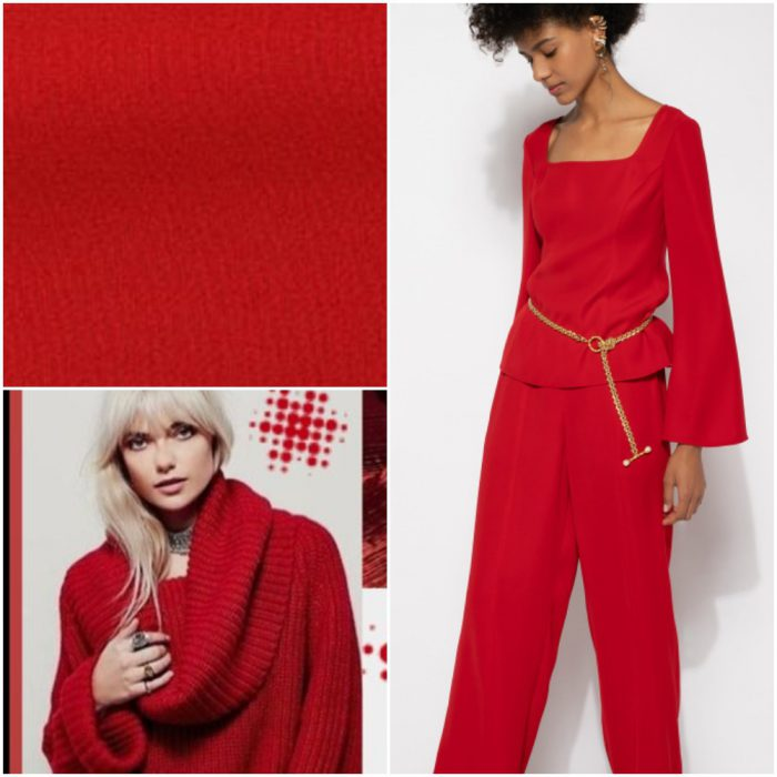rojo bordo Colores de moda invierno 2022