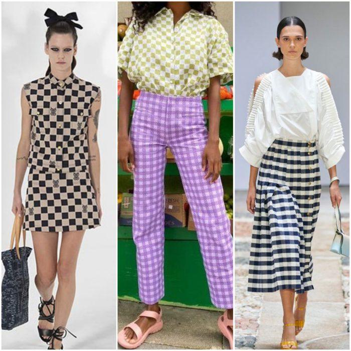 rombos y cuadros estampas de moda verano 2022