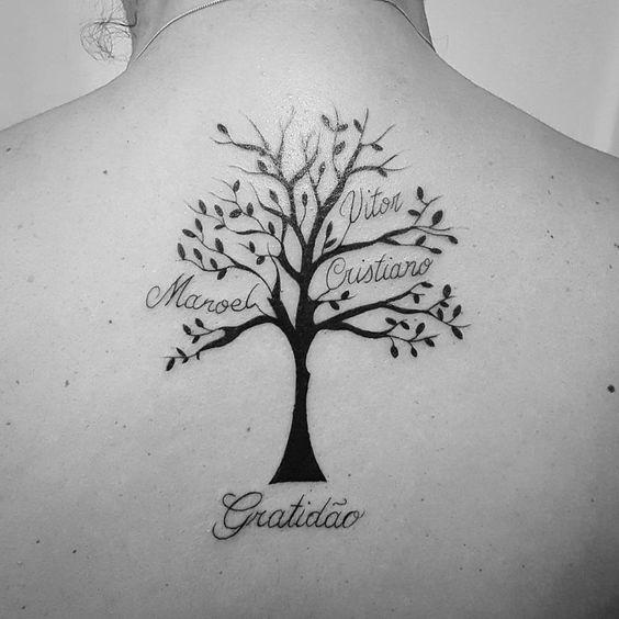 tatuaje arbol familiar
