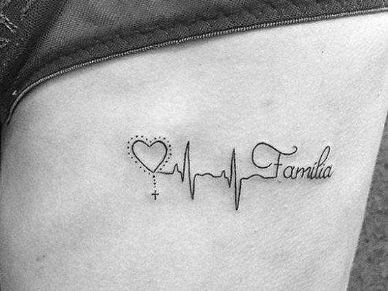tatuaje corazon family