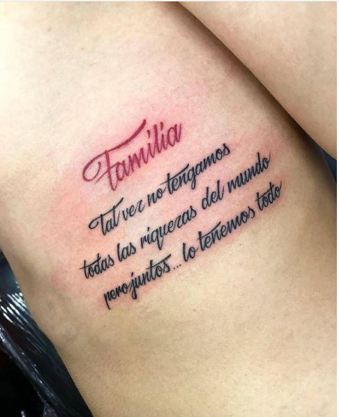 tatuaje frase familia
