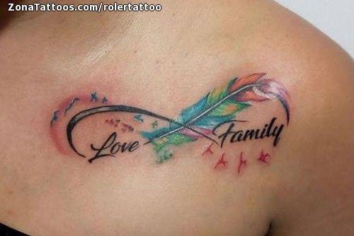 tatuaje infinito familia pajaros