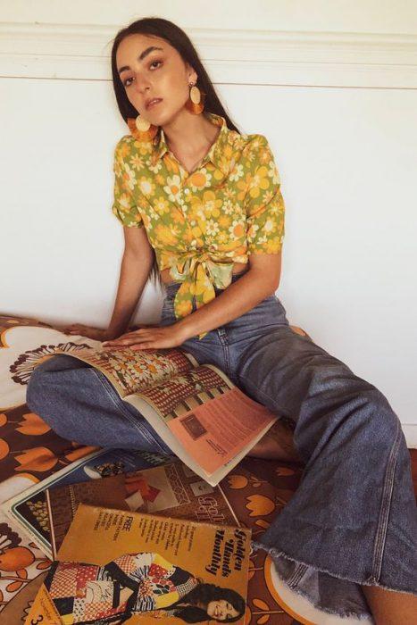 tops de moda en los 70