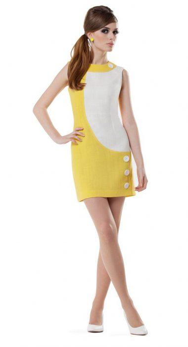 vestidos de corte recto de los 60