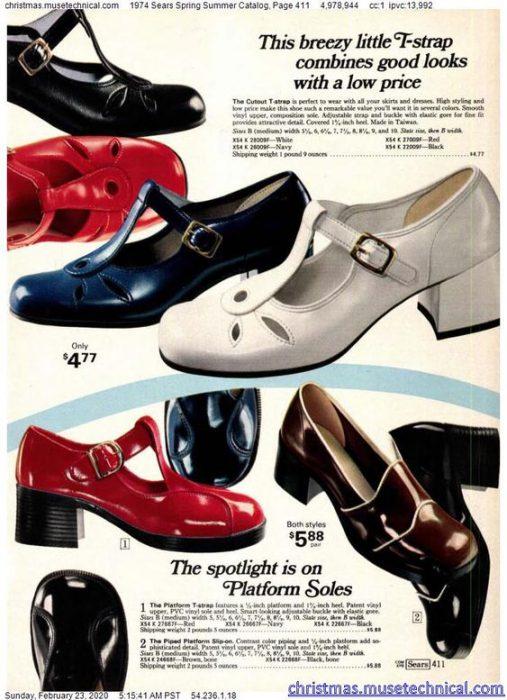 zapatos de los 70