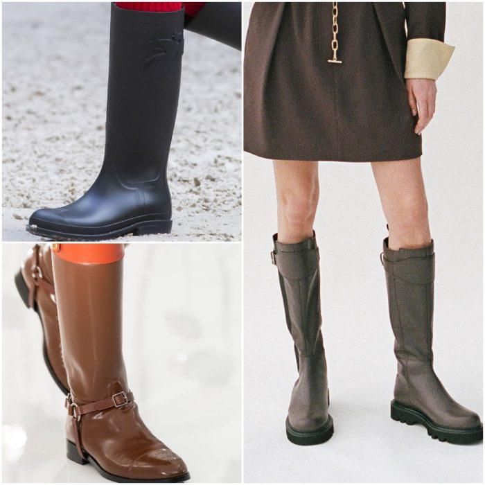 Botas de lluvia calzado de moda invierno 2022