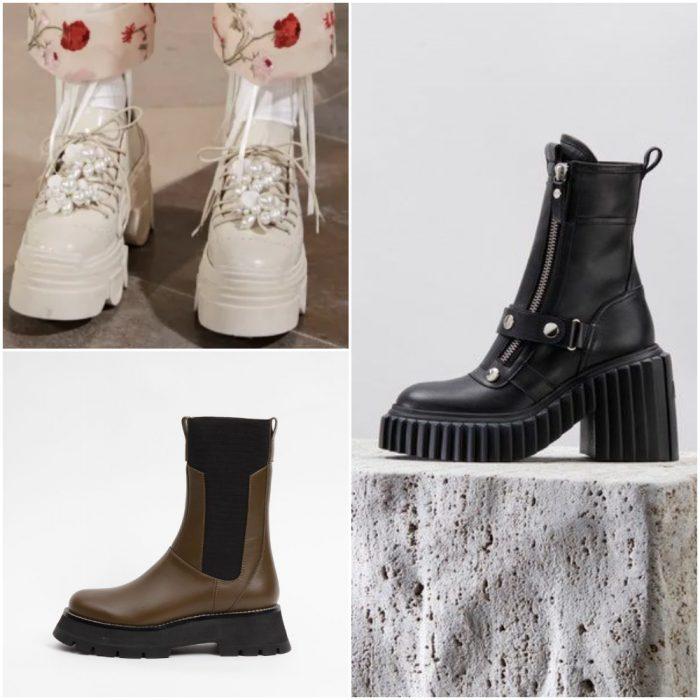 Botas de militares borceguies calzado de moda invierno 2022