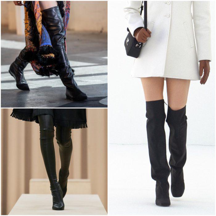 Bucaneras botas cana altas calzado de moda invierno 2022