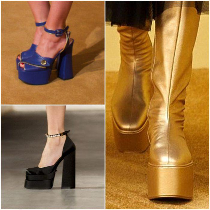 Plataformas altas calzado de moda invierno 2022