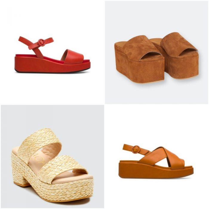 Sandalias con plataforma plana calzados verano 2022