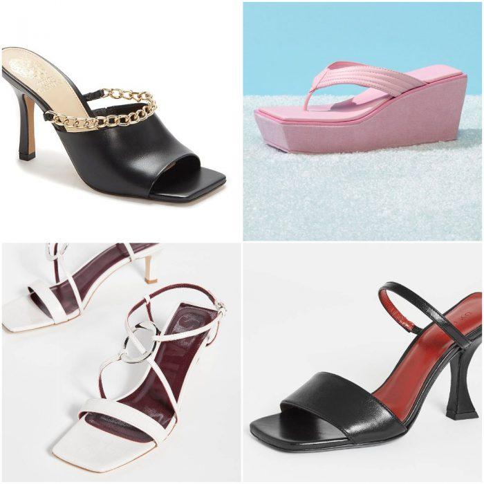 Sandalias punta cuadrada calzados verano 2022