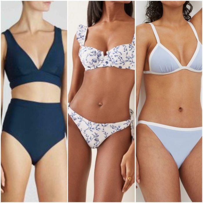 Trajes de bano de moda verano 2022 tonos azules