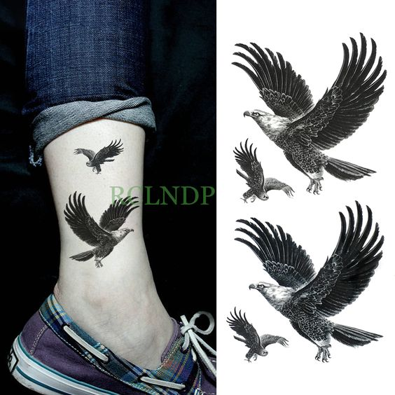 aguila tobillo tatuaje