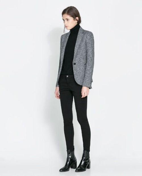blazer gris claro
