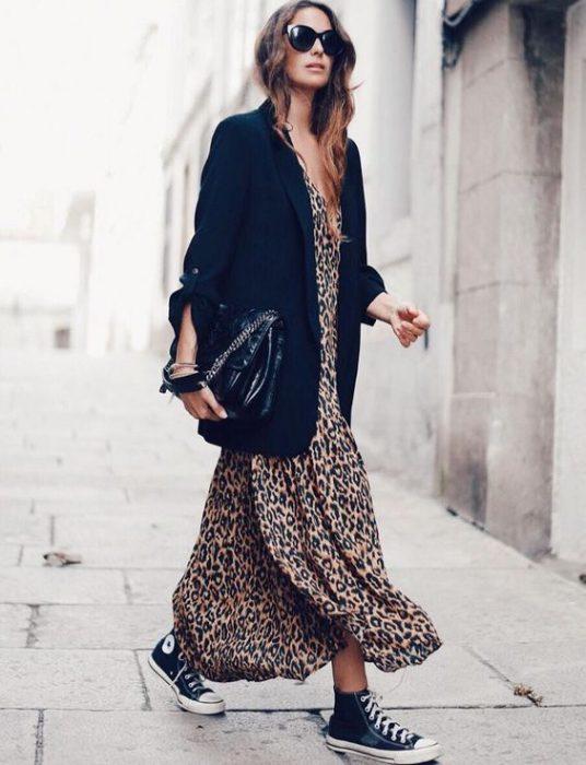 blazer largo con vestido