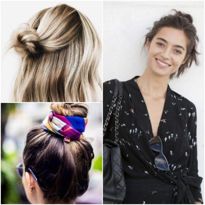 bollos Peinados de moda verano 2022