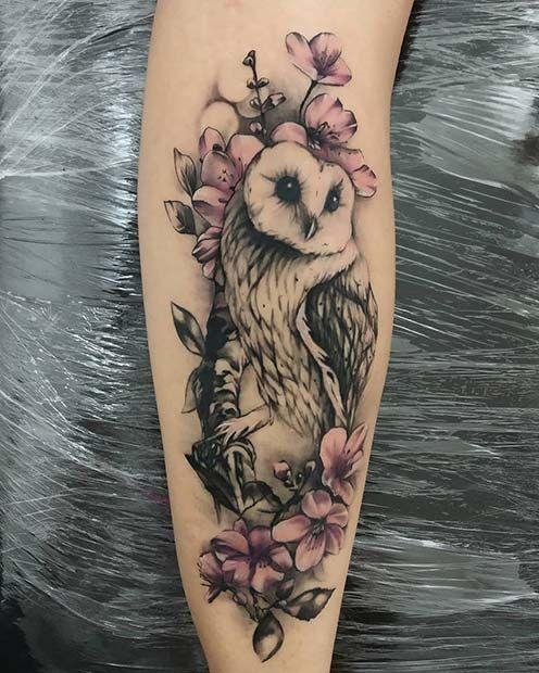 dibujo de buho para tatuaje