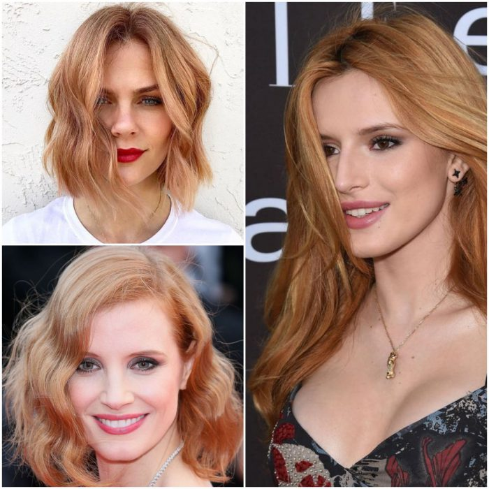 rubio fresa Colores de pelo de moda verano 2022