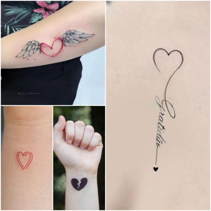 tatauajes con corazon para mujer