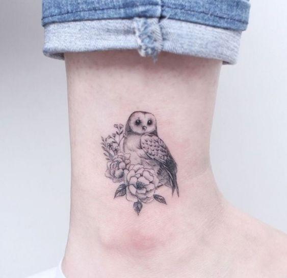 tatuaje buho pequeno