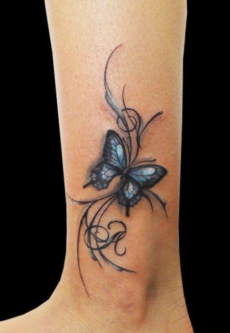tatuajes mariposas pies tobillo 1
