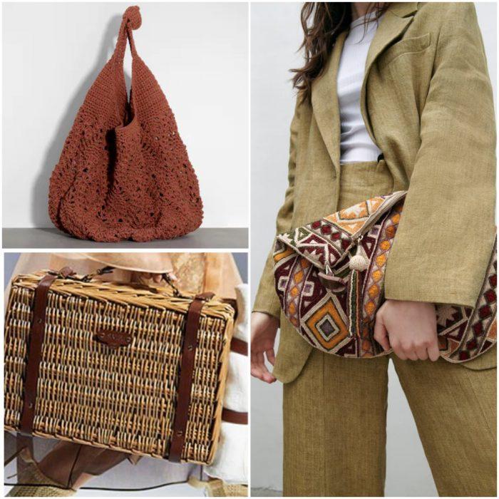 tejidos artesanales bolsos de moda verano 2022