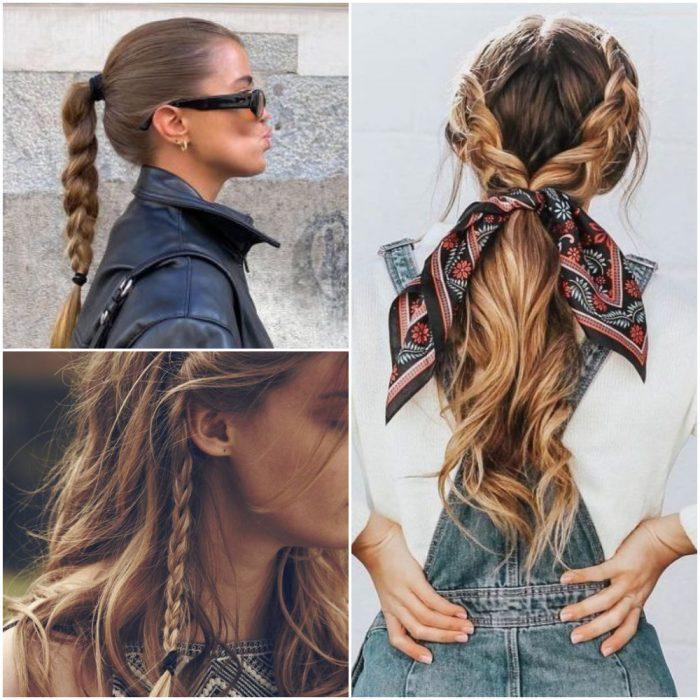 trenzas Peinados de moda invierno 2022