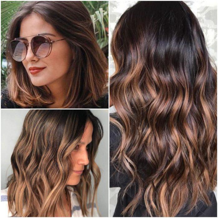 Acentos de miel tendencia color cabello invierno 2022