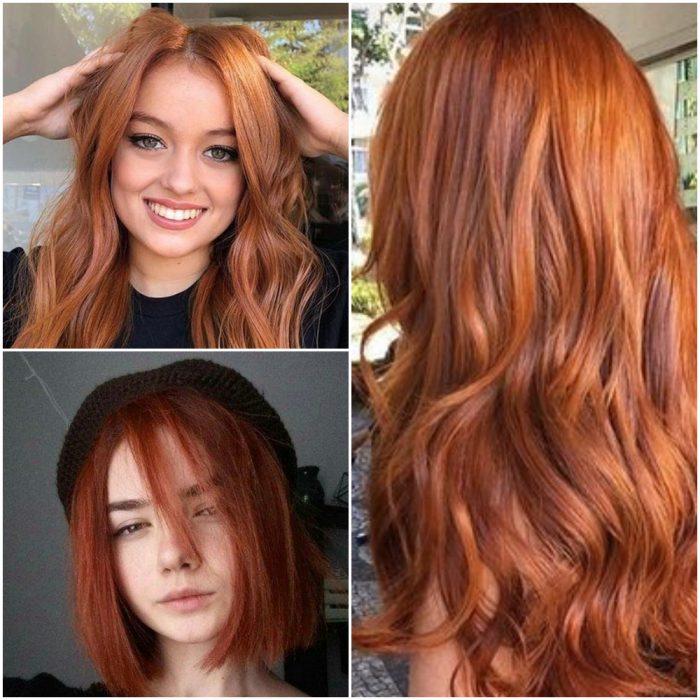 Cobre tendencia color cabello invierno 2022