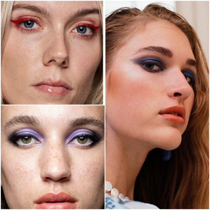 Ojos coloridos tendencia en maquillaje 2022