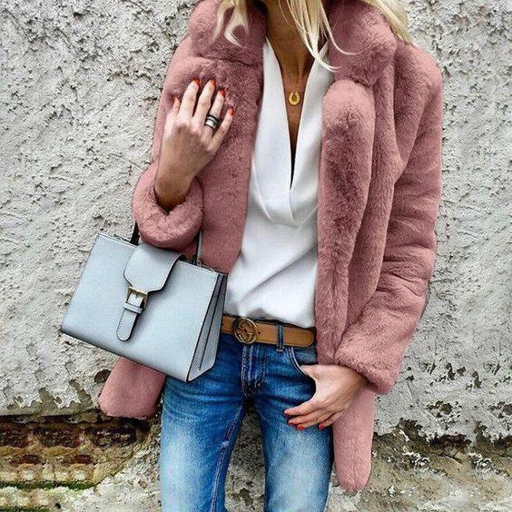 abrigo piel sintetica moda 2021