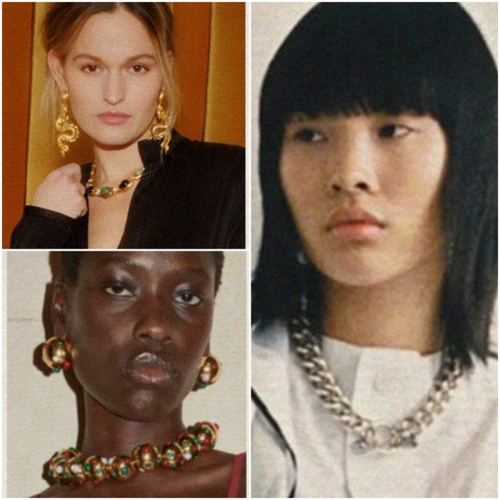 grandes de oro y plata Joyas de moda invierno 2022