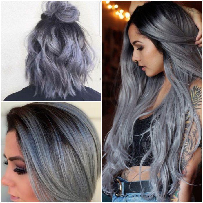 niebla azul tendencia color cabello invierno 2022