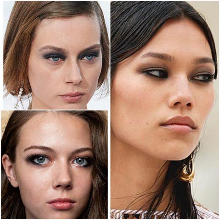 ojos ahumados tendencia en maquillaje 2022