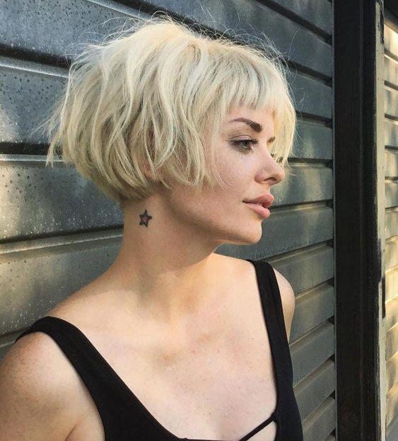 pelo y flequillo corto