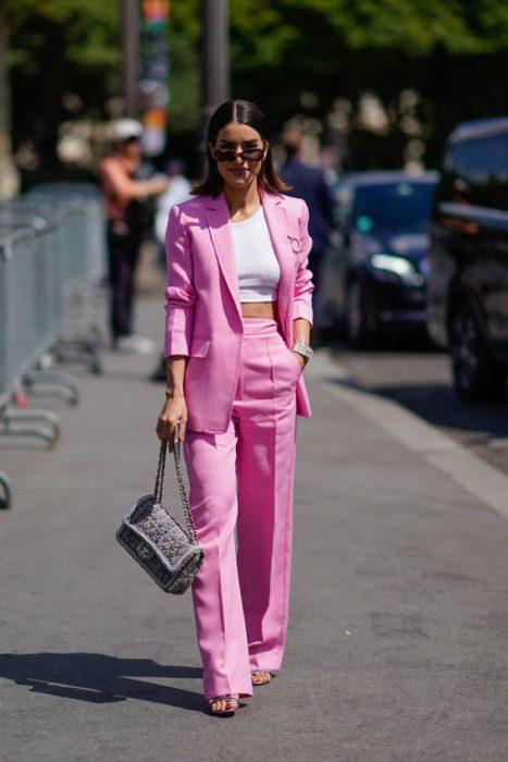 top y traje mujer