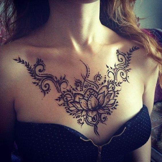 henna pecho tatoo