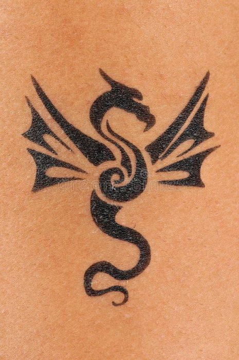 tatoo drgon tribal