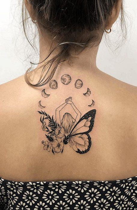 tatoo espalda arriba mujer