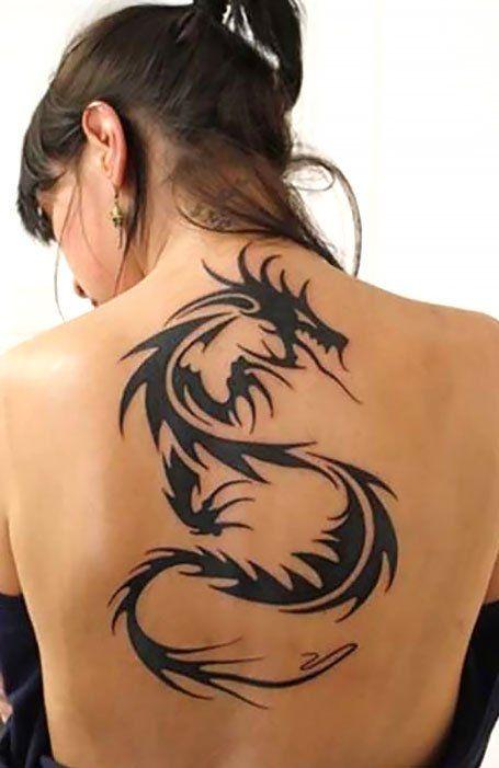 tatuaje dragon tribal espalda