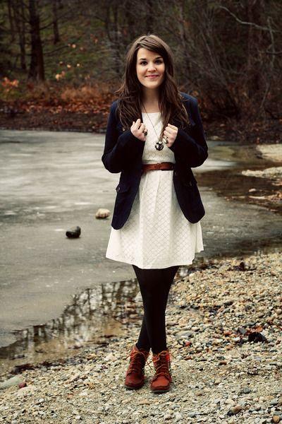 invierno vestido corto con blazer