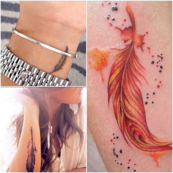 tatuajes pluma mujer