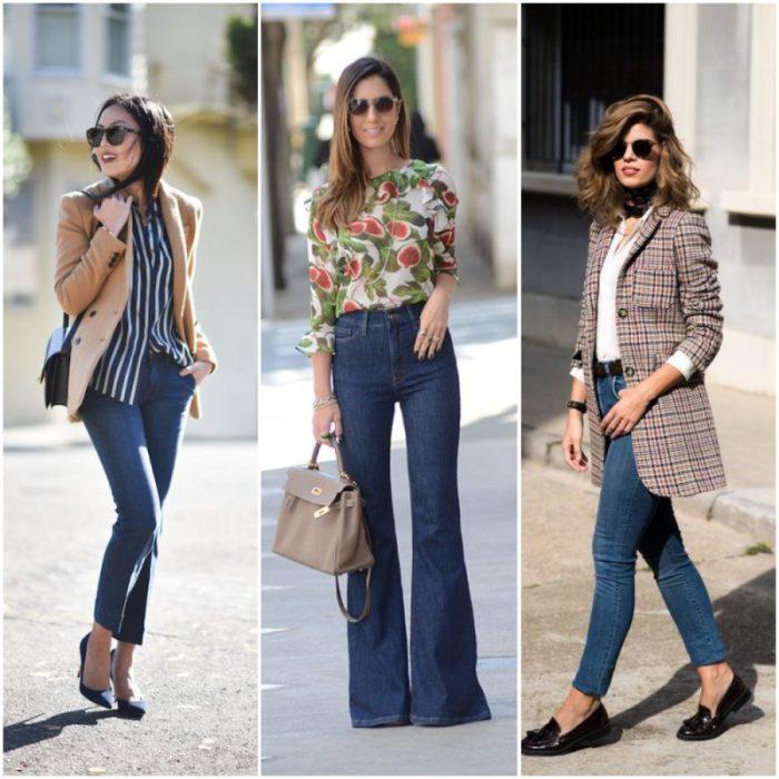 look con jeans para ir a la oficina
