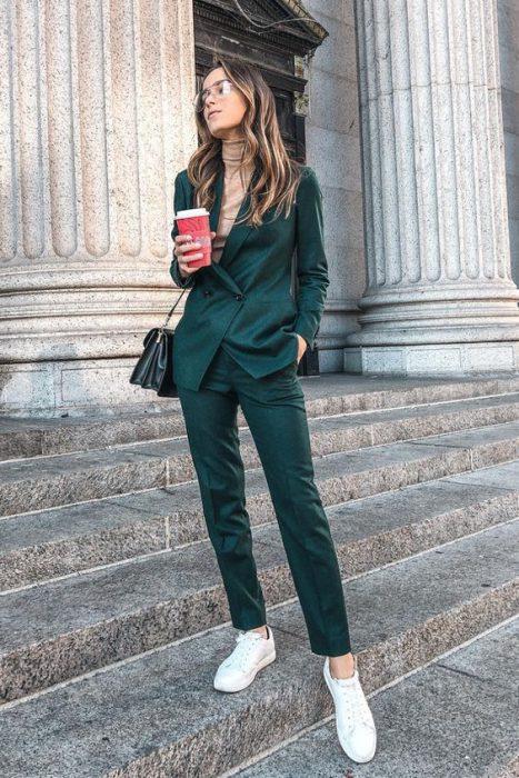 outfit juvenil otono oficina traje