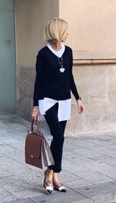 outfit para ir a la oficina en otono